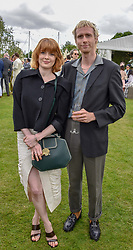 Emily Beecham and friend at the Cartier Queen's Cup Polo 2019 held at Guards Polo Club, Windsor, Berkshire. UK 16 June 2019. <br /> <br /> Photo by Dominic O'Neill/Desmond O'Neill Features Ltd.  +44(0)7092 235465  www.donfeatures.com