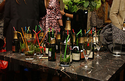 CHAMPAGNE at a party to celebrate the opening of the new fashion store Jezebell at 59 Blandford Street, London W1 on 20th April 2006.<br />