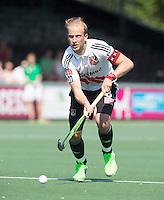 AMSTELVEEN -   Billy Bakker (A'dam).     Beslissende finalewedstrijd om het Nederlands kampioenschap hockey tussen de mannen van Amsterdam en Oranje Zwart (2-3). COPYRIGHT KOEN SUYK