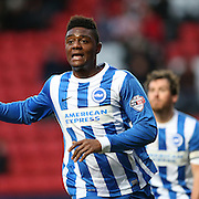 Albion goal scorer Rohan Ince during the Sky Bet Championship match between Charlton Athletic and Brighton and Hove Albion at The Valley, London, England on 10 January 2015.