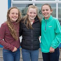 Alana Doherty, Caoimhe Cahill and Laureen Cahill of the U13 and U14 Kilmaley Camogie Team