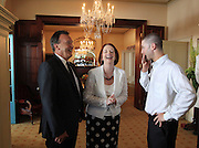 Australia's Prime Minister Julia Gillard and her partner Tim Mathieson greet Australia's Michael Clarke who has been named captain for the final Ashes test at the S.C.G. replacing the injured Ricky Ponting.The Australian and English cricket teams attended a function at Kirribilli House with the Prime Minister on January 1, 2011 in Sydney, Australia. <br /> Commissioned by GETTY IMAGES