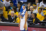 Golden State Warriors guard Stephen Curry (30) watches his team beat the Cleveland Cavaliers during Game 1 of the NBA Finals at Oracle Arena in Oakland, Calif., on June 1, 2017. (Stan Olszewski/Special to S.F. Examiner)
