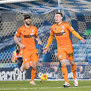 Freddie Sears celebrates his first goal since signing for Ipswich Town, during the Sky Bet Championship match between Millwall and Ipswich Town at The Den, London, England on 17 January 2015. Photo by David Charbit.