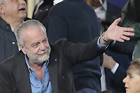 Aurelio De Laurentiis  <br /> Napoli 07-05-2015 Stadio San Paolo <br /> Football Calcio UEFA Europa League Semi-finals, First leg. Napoli - Dnipro.<br /> Foto Cesare Purini / Insidefoto