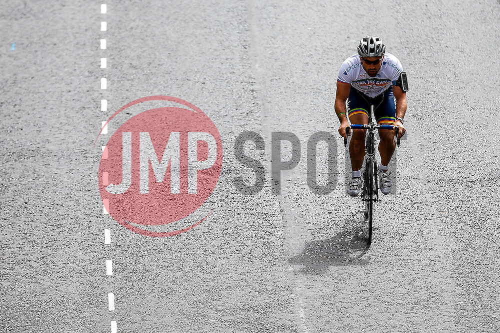 Ben Breeze of Team Bristol Sport in action on the way to victory in the  Corporate Relay during the first ever Bristol Grand Prix, a closed circuit city centre bicycle road race - Mandatory byline: Rogan Thomson/JMP - 07966 386802 - 20/06/2015 - SPORT - Cycling - Bristol, England.