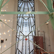 Inside of light tower atop the old Power and Light Building art deco skyscraper in downtown Kansas City, MO.