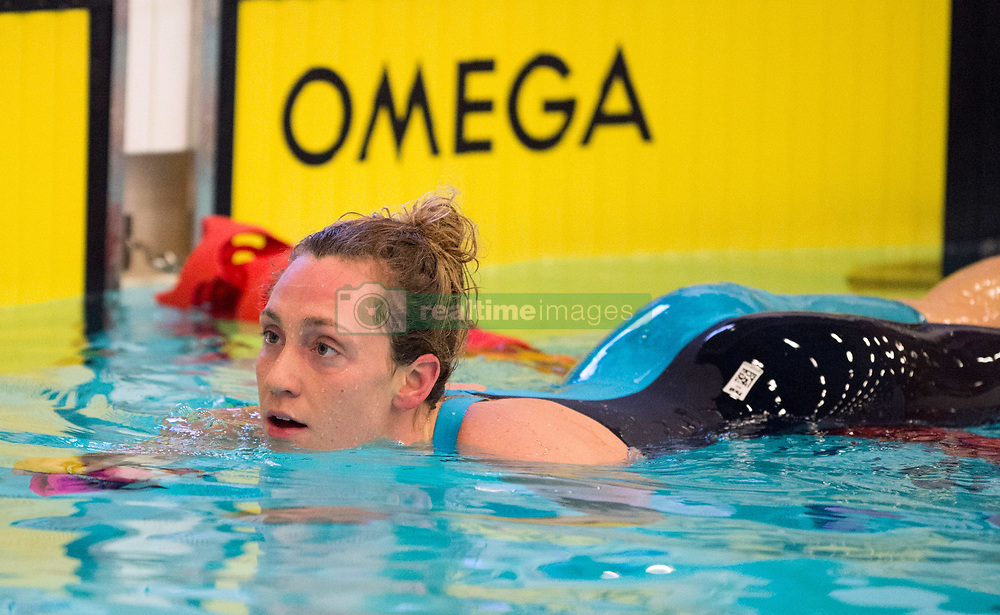 Elizabeth Simmonds after winning the Women's 200m Backstroke final during day two of the 2018 EISM and British Championships at the Royal Commonwealth Pool, Edinburgh.