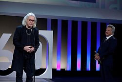 Actor (L to R) Billy Connolly and Dustin Hoffman during the Sebastian Film Festival, September 29, 2012. Photo By Nacho Lopez / DyD Fotografos / i-Images..SPAIN OUT