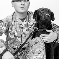 Dean Jones, Army - Royal Army Veterinary Corps, Lance Corporal, Dog Handler, Spud is an Arms Explosive Search dog, Operations: Herrick,  Veterans Portrait Project UK Sennelager Germany