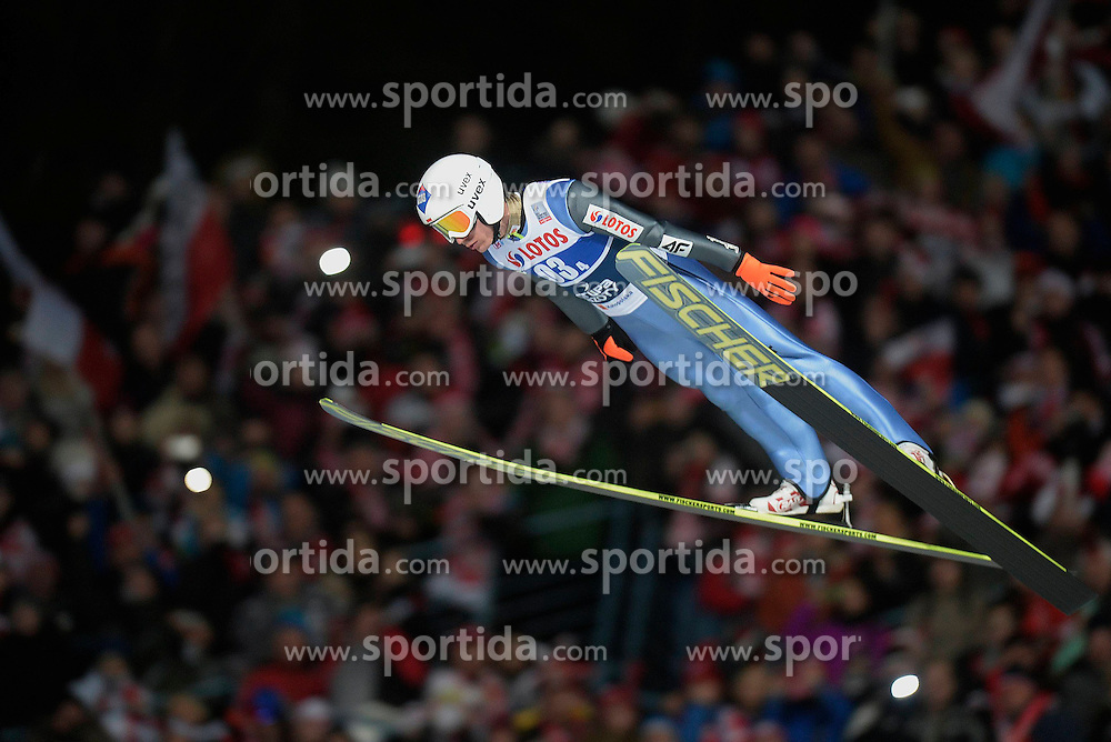 17.01.2015, Wielka Krokiew, Zakopane, POL, FIS Weltcup Ski Sprung, Zakopane, Herren, Teamspringen, im Bild Kamil Stoch // during mens Large Hill Team competition of FIS Ski Jumping world cup at the Wielka Krokiew in Zakopane, Poland on 2015/01/17. EXPA Pictures &copy; 2015, PhotoCredit: EXPA/ Newspix/ Irek Dorozanski<br /> <br /> *****ATTENTION - for AUT, SLO, CRO, SRB, BIH, MAZ, TUR, SUI, SWE only*****