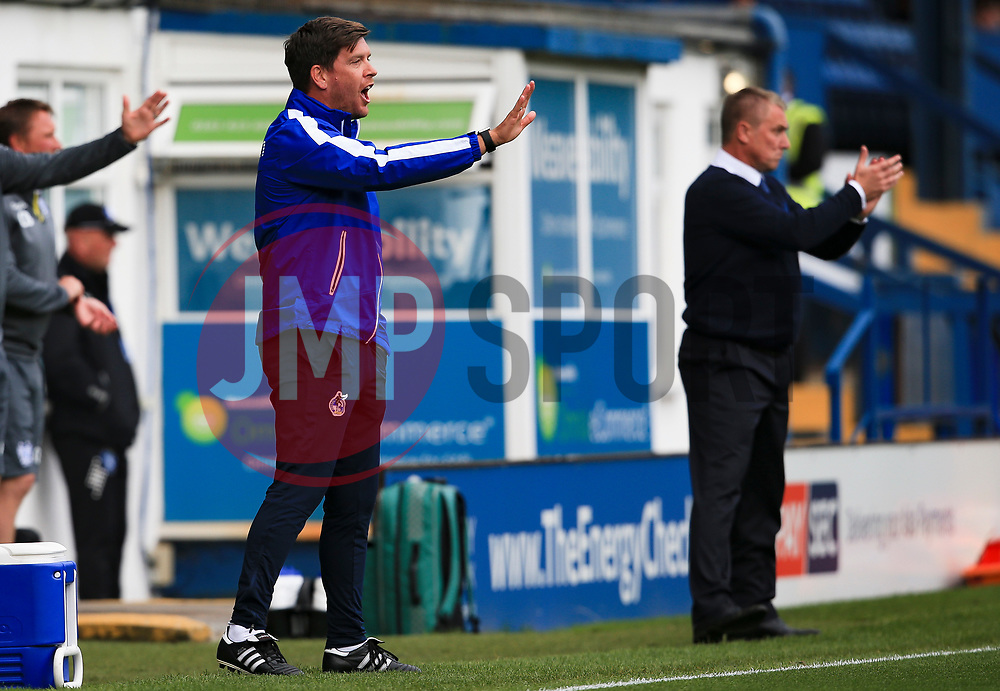 Bristol Rovers manager Darrell Clarke and Bury manager Lee Clark - Mandatory by-line: Matt McNulty/JMP - 19/08/2017 - FOOTBALL - Gigg Lane - Bury, England - Bury v Bristol Rovers - Sky Bet League One