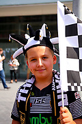 Hull fan during the Ladbrokes Challenge Cup Final 2017 match between Hull RFC and Wigan Warriors at Wembley Stadium, London, England on 26 August 2017. Photo by Simon Davies.