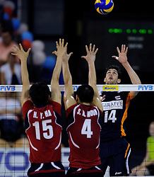 08-07-2010 VOLLEYBAL: WLV NEDERLAND - ZUID KOREA: EINDHOVEN<br /> Nederland verslaat Zuid Korea met 3-0 / Niels Klapwijk<br /> ©2010-WWW.FOTOHOOGENDOORN.NL