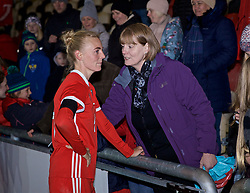 NEWPORT, WALES - Thursday, April 4, 2019: Wales' Sophie Ingle after an International Friendly match between Wales and Czech Republic at Rodney Parade. The game ended in a 0-0 draw. (Pic by David Rawcliffe/Propaganda)