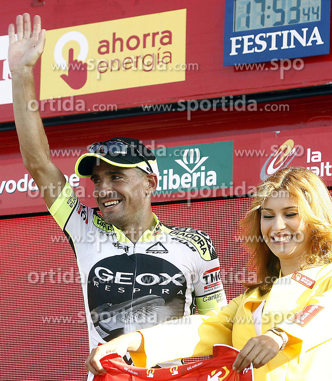 09.09.2011, Andalusien, ESP, LA VUELTA 2011, 18. Etappe, im Bild Juan Jose Cobo during the stage of La Vuelta 2011 between Solares and Noja.September 8,2011. EXPA Pictures © 2011, PhotoCredit: EXPA/ Alterphoto/ Paola Otero +++++ ATTENTION - OUT OF SPAIN/(ESP) +++++
