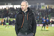 Cambridge United's manager Shaun Derry at the end of the match during the EFL Sky Bet League 2 match between Forest Green Rovers and Cambridge United at the New Lawn, Forest Green, United Kingdom on 20 January 2018. Photo by Shane Healey.