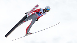 04.01.2015, Bergisel Schanze, Innsbruck, AUT, FIS Ski Sprung Weltcup, 63. Vierschanzentournee, Innsbruck, 1. Wertungssprung, im Bild Daniel Wenig (GER) // Daniel Wenig of Germany soars trought the air during his first competition jump for the 63rd Four Hills Tournament of FIS Ski Jumping World Cup at the Bergisel Schanze in Innsbruck, Austria on 2015/01/04. EXPA Pictures © 2015, PhotoCredit: EXPA/ JFK
