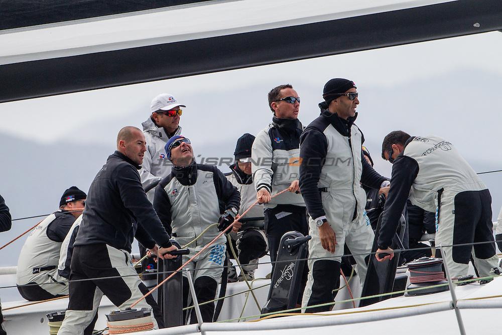 """Maxi 72 """"Robertissima III """" training in Palma for the 2015 season."""