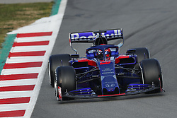 February 18, 2019 - Barcelona, Catalonia, Spain - February 18, 2019 - Circuit de Barcelona-Catalunya, Montmelo, Spain - Formula One preseason 2019; Alex Albon of Scuderia Toro Rosso Honda during the morning session of day 1. (Credit Image: © Eric Alonso/ZUMA Wire)