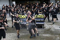 October 9, 2016 - Suzuka, Japan - Motorsports: FIA Formula One World Championship 2016, Grand Prix of Japan, .Mercedes AMG Petronas Formula One Team celebrates the win of constructors championship 2016  (Credit Image: © Hoch Zwei via ZUMA Wire)