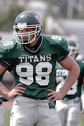09 September 2006  Titan All American Mike Stephens..In the first ever football competition between the Olivet Comets and the Illinois Wesleyan Titans, the Titans strut off the field with a 21- 6 victory. .Game action took place at Wilder Field on the campus of Illinois Wesleyan University in Bloomington Illinois.