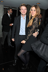 TONY ANDERSON and JESSICA NAYLOR-LEYLAND at a party to celebrate 41 years of the Farm Club in Verbier held at Club Nouveau, The Arts Club, Dover Street, London on 16th November 2011.