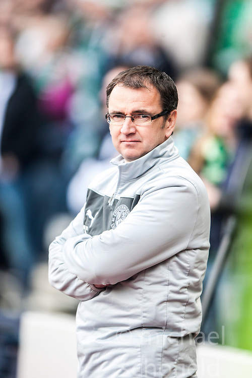 Hibernian's manager Pat Fenlon..Hibernian 4 v 3 Falkirk, William Hill Scottish Cup Semi Final, Hampden Park...