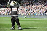 The Hull FC mascot Airlie celebrates a Hull FC try during the Betfred Super League match between Hull FC and Hull Kingston Rovers at Kingston Communications Stadium, Hull, United Kingdom on 19 April 2019.