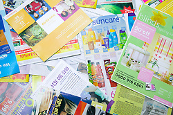 Piles of leaflets and brochures
