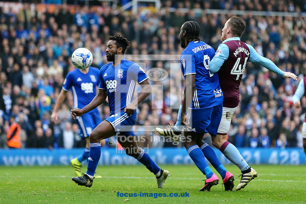 Jacques Maghoma of Birmingham City (left)  surges forward during the Sky Bet Championship match at St Andrews, Birmingham<br /> Picture by Andy Kearns/Focus Images Ltd 0781 864 4264<br /> 30/10/2016