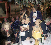 Countess Maya von Schonburg, Arnaud Bamberger and the Duchess of Marlborough. Cartier party. Annabels. Dec, 2001. © Copyright Photograph by Dafydd Jones 66 Stockwell Park Rd. London SW9 0DA Tel 020 7733 0108 www.dafjones.com