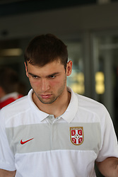 25.05.2010, Airport Salzburg, Salzburg, AUT, WM Vorbereitung, Serbien Ankunft im Bild Nikola Zigic, Nationalteam Serbien, EXPA Pictures © 2010, PhotoCredit EXPA R. Hackl / SPORTIDA PHOTO AGENCY