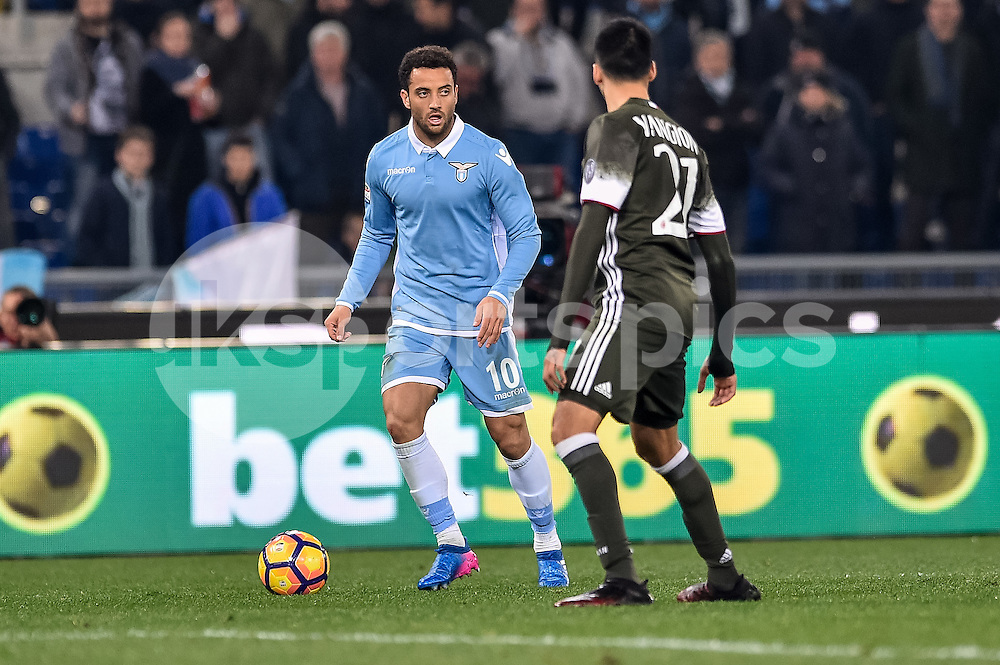 Felipe Anderson of Lazio during the Serie A match between Lazio and AC Milan at Stadio Olimpico, Rome, Italy on 13 February 2017. Photo by Giuseppe Maffia.