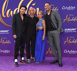 Trey Smith, Jaden Smith, Jada Pinkett Smith and Will Smith arriving to the 'Aladdin' World Premiere at El Capitan Theatre. 21 May 2019 Pictured: Trey Smith, Jaden Smith, Jada Pinkett Smith and Will Smith. Photo credit: O'Connor/AFF-USA.com / MEGA TheMegaAgency.com +1 888 505 6342