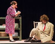"Middletown, New York - The SUNY Orange Apprentice Players perform during a rehearsal of five one-act plays under the billing of ""Tennessee & Jones: American Originals""  at Orange Hall Theatre on the College's Middletown campus on Nov. 18, 2015. The performance showcased  ""Dutchman,"" ""The Case Of The Crushed Petunias,"" ""In Our Profession,"" ""The Dark Room"" and ""Curtains For The Gentleman"" ."