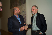 PETER DOIG AND HIS FATHER DAVID DOIG, Private view and dinner for the opening of the Peter Doig exhibition. Tate Britain. Millbank. London. 4 February 2008.  *** Local Caption *** -DO NOT ARCHIVE-© Copyright Photograph by Dafydd Jones. 248 Clapham Rd. London SW9 0PZ. Tel 0207 820 0771. www.dafjones.com.
