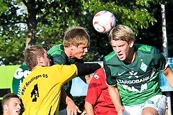 20.07.2010, An der Kreuzeiche, Reutlingen, GER,  SSV Reutlingen vs SV Werder Bremen Targo Bank Cup - Friendly Match  1. FBL 2010  im Bild Keeper SSV Patrick Guehring  klaert vor Sebastian Prödl / Proedl ( Werder #15) und Peter Niemeyer ( Werder #25 ) li unten Marko Arnautovic (Werder #07 )    EXPA Pictures © 2010, PhotoCredit: EXPA/ nph/  Kokenge+++++ ATTENTION - OUT OF GER +++++ / SPORTIDA PHOTO AGENCY