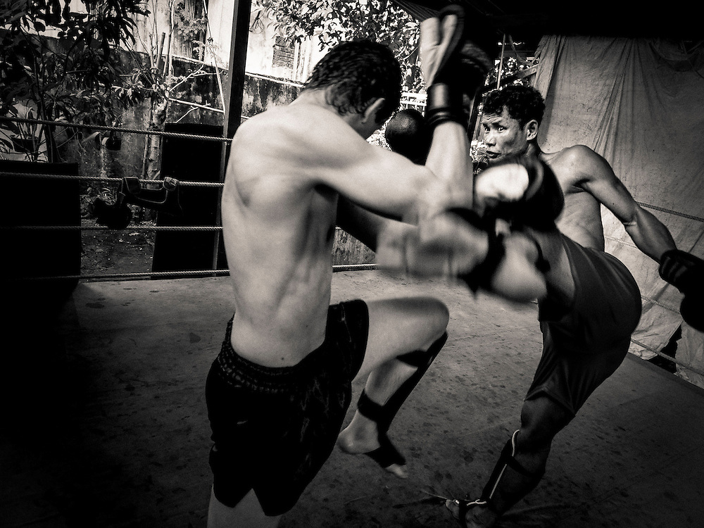 Vittore Buzzi Photography Yangon, Myanmar Lethwei - Let Wei Burma Boxe.<br /> Lone Chaw was 3 times Myanmar National Champion. Lethwei&rsquo;s real legend.<br /> Gym