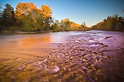 Idaho. Boise. Fall colors along the Boise River.