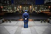 TOKYO, JAPAN, 7 JANUARY - Shinjuku - 2011 - A gard stay at the entrance at the Tokyo town office - January 2011 [FR]  Un gardien à l'entrée de la marie de Tokyo a shinjuku