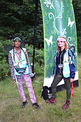 Latitude Festival 2017, Henham Park, Suffolk, UK. Latitude pixies, volunteers who offer information & help to festival goers