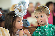 08/12/2014 Children from Fanore National school Aine Hynes and Harry O'Neil performing the Nativity at the Church in Fanore Co. Clare   Photo:Andrew Downes