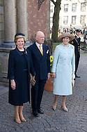 14.04.11. Copenhagen, Denmark.Princess Benedikte, Prince Richard and Queen Anne-Marie of Greece leaves the Holmens Church after christening ceremony.Photo: Ricardo Ramirez