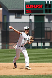 14 April 2013:  Matt Workman during an NCAA division 3 College Conference of Illinois and Wisconsin (CCIW) Baseball game between the Elmhurst Bluejays and the Illinois Wesleyan Titans in Jack Horenberger Stadium, Bloomington IL