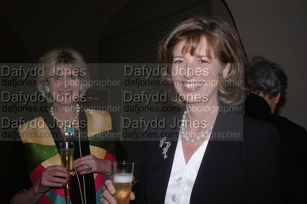 Mrs. Clarissa Carlton-Paget and Mrs. Peter Hambro. Masterpieces of American Jewelry at the Gilbert Collection. Somerset House. 14 February 2005. ONE TIME USE ONLY - DO NOT ARCHIVE  © Copyright Photograph by Dafydd Jones 66 Stockwell Park Rd. London SW9 0DA Tel 020 7733 0108 www.dafjones.com