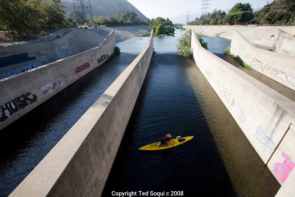 Day 2 of the LA River expedition. This stretch is called the Glendale Narrows..