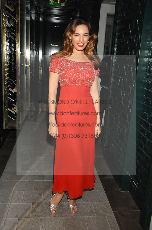 KELLY BROOK at a party to launch the Dom Perignon OEotheque 1995 held at The Landau, Portland Place, London W1 on 26th February 2008.<br /><br />NON EXCLUSIVE - WORLD RIGHTS