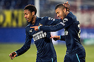 Onderwerp/Subject: Feyenoord - Eredivisie<br /> Reklame:  <br /> Club/Team/Country: <br /> Seizoen/Season: 2012/2013<br /> FOTO/PHOTO: Tonny TRINDADE DE VILHENA (R) of Feyenoord celebrating his goal with Jean Paul BOETIUS (L) of Feyenoord. (Photo by PICS UNITED)<br /> <br /> Trefwoorden/Keywords: <br /> #02 #17 $94 &plusmn;1354627667242<br /> Photo- &amp; Copyrights &copy; PICS UNITED <br /> P.O. Box 7164 - 5605 BE  EINDHOVEN (THE NETHERLANDS) <br /> Phone +31 (0)40 296 28 00 <br /> Fax +31 (0) 40 248 47 43 <br /> http://www.pics-united.com <br /> e-mail : sales@pics-united.com (If you would like to raise any issues regarding any aspects of products / service of PICS UNITED) or <br /> e-mail : sales@pics-united.com   <br /> <br /> ATTENTIE: <br /> Publicatie ook bij aanbieding door derden is slechts toegestaan na verkregen toestemming van Pics United. <br /> VOLLEDIGE NAAMSVERMELDING IS VERPLICHT! (&copy; PICS UNITED/Naam Fotograaf, zie veld 4 van de bestandsinfo 'credits') <br /> ATTENTION:  <br /> &copy; Pics United. Reproduction/publication of this photo by any parties is only permitted after authorisation is sought and obtained from  PICS UNITED- THE NETHERLANDS