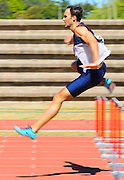 CAPE TOWN, SOUTH AFRICA - Saturday 27 February 2016, Niel le Roux of Bellville Athletic Club in the mens 400m hurdles during the Western Province Athletics League Track and Field athletic meeting at the Parow Athletics Stadium. <br /> Photo by Roger Sedres/ImageSA